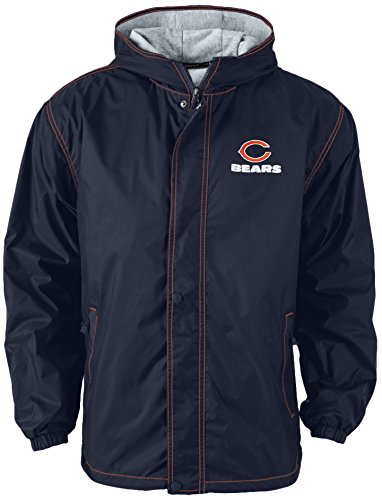 Dunbrooke Apparel NFL Chicago Bears Legacy Nylon Hooded Jacket, X-Large, Navy Chicago Bears Jacket