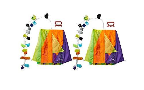 Toysmith (2 Pack) Bundle Savers! Parafoil Mini Nylon Pocket Kites for Kids