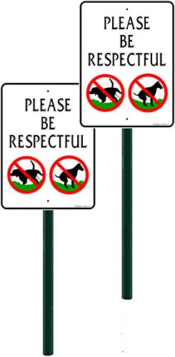 2-pack, Discreet Please Be Respectful Sign, 7