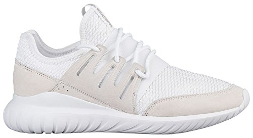 adidas Tubular Radial Men Shoes White/White/LGH Solid Grey s76720 (10.5 M US)
