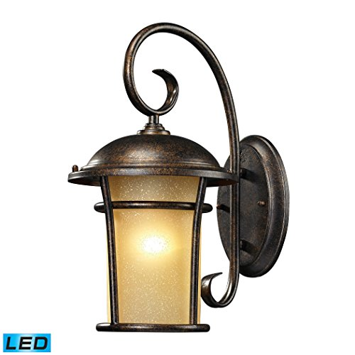 Bolla Vista 1 Light Outdoor Sconce In Regal Bronze - LED Offering Up To 800 Lumens (60 Watt Equivalent) With Full Range Dimming. Includes An Easily Replaceable LED Bulb (120V). - Regal 1 Light Pendant
