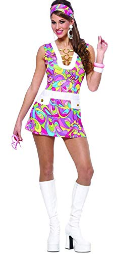 Costume Culture Women's Groovy Chic Costume, Pink, Small ()
