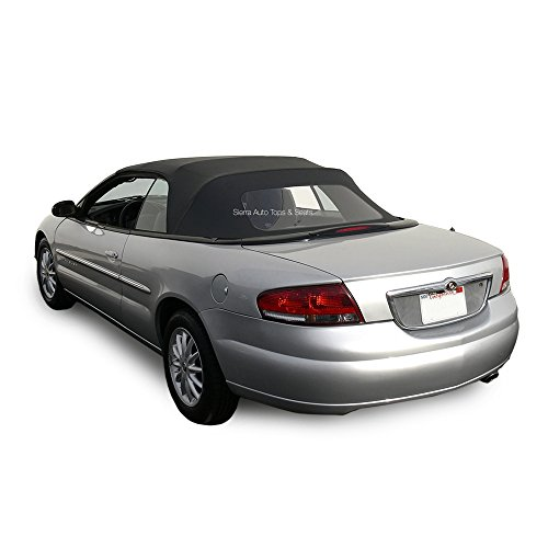 Chrysler Sebring Convertible Top for 1996-2006 Models in Sailcloth Vinyl with Plastic Window, (Chrysler Sebring Convertible Auto)