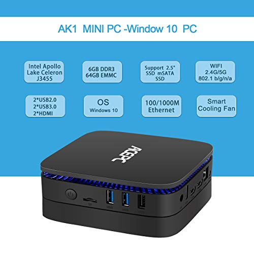 ACEPC AK1 Mini PC,Intel Celeron J3455,6GB RAM/64GB eMMC