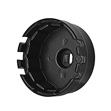 Magiin Llave de filtro de aceite de aluminio para Toyota, 1,8 litros, tapón resistente de 24 mm x 64,5 mm con 14 ranuras: Amazon.es: Coche y moto