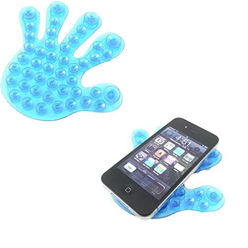 Blue Suction Cup Phone Holder Double Sided Non-Slip Window W