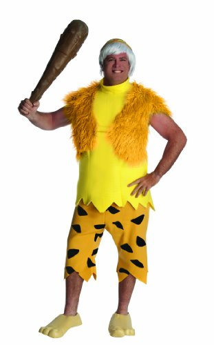 Flintstones Bamm Bamm Costumes (The Flintstones Adult Bamm-Bamm Set, Yellow/Orange, Plus)
