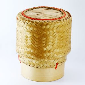 Thai lao sticky rice bamboo natural serving baskets from thailand