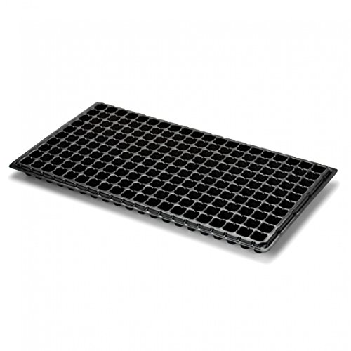 Extra Strength 200 Cell Seedling Starter Trays, 5 Pack, for Seed Germination, Plant Propagation, Soil & Hydroponics, Growing Trays, Planting Starter Plugs by Bootstrap (Starting Seeds Greenhouse)