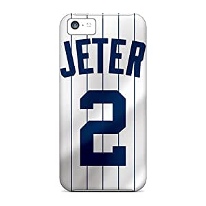 Rugged Skin Case Cover For Iphone 5c- Eco-friendly Packaging(new York Yankees)