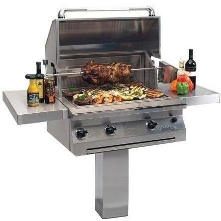 Solaire 30 Inch Infravection Natural Gas Grill With Rotisserie On In-ground Post - - Natural 30 Infravection Inch Solaire