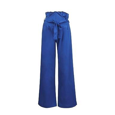 Pantalones Anchos Marlene para Mujer Otoño Invierno 2018 Moda PAOLIAN Casual Pantalones Acampanados Vestir Cintura Alta Fiesta Pantalon de Trabajo ...