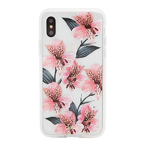 - Sonix Tiger Lily (Pink Flowers) Cell Phone Case [Military Drop Test Certified] Women's Protective Clear Series for Apple iPhone X, iPhone Xs