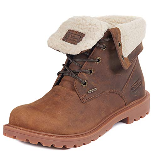 Barbour Womens Hamsterly Roll Top Winter Waterproof Fleece Ankle Boot