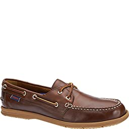 Sebago Men\'s Litesides Two Eye Boat Shoe,Brown/Brown Oiled Waxy Leather,US 11 M
