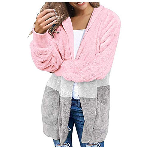 Fleece Open Front Hooded Coats