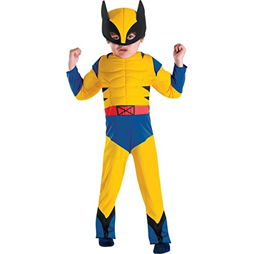 Disguise Marvel Wolverine Toddler Muscle Costume, Small/4-6