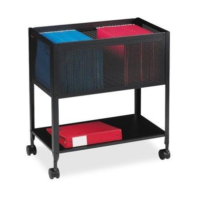Mobile Cube File - Lorell Black Steel Mesh Rolling File ,27.5