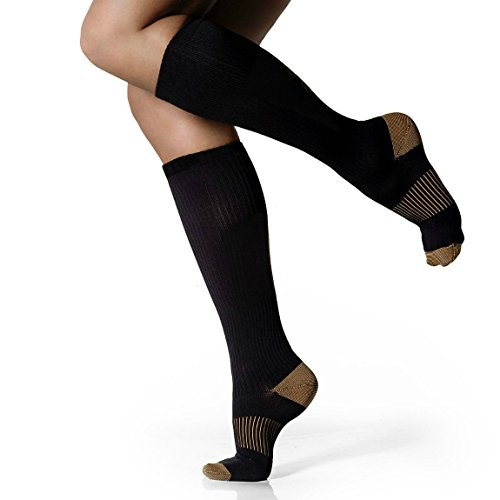 Sporting Good Copper Infused Therapeutic 10 Point Compression Socks (Women's, 5 Pairs) For Sale