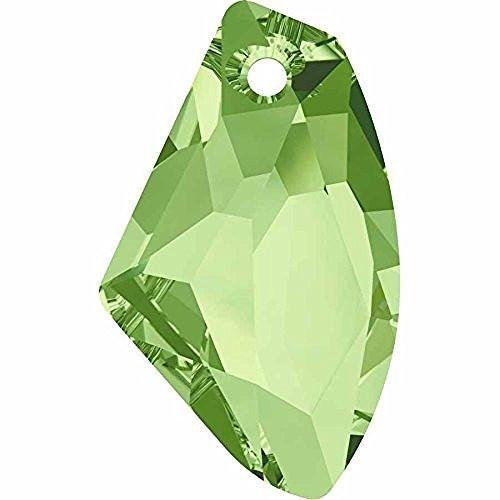 6656 Swarovski Pendant Galactic Vertical | Peridot | 27mm - Pack of 1 | Small & Wholesale Packs