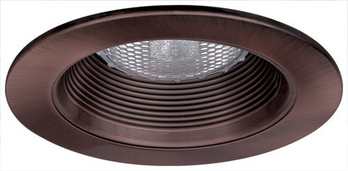 "Phenolic Baffle Trim (Elco Lighting EL993BZ 4"" Phenolic Baffle with Metal Ring - EL993)"