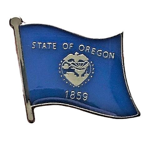 State Flag Lapel Pins - Backwoods Barnaby Oregon (OR) Flag State Lapel Pin