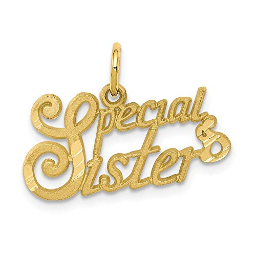 10K Yellow Gold Special Sister Charm 15x23mm