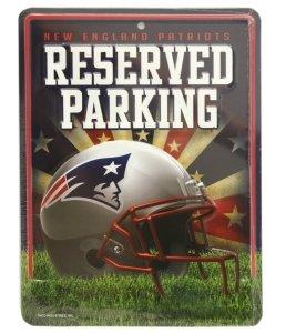 New England Patriots Metal Parking Sign ()
