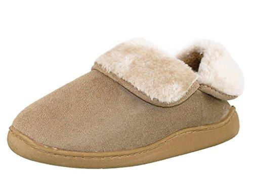 Foldover Cuff On Tan Slip Slipper Ladies Kumfy RPnzwpqHxC