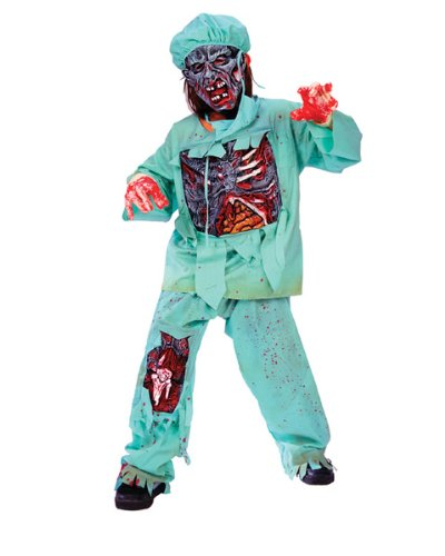 [Fun World zombie doctor costume for children] (Zombie Doctor Childrens Costumes)