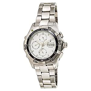 Black Royale Men's White Dial Stainless Steel Band Watch - 7110GPSB-WD