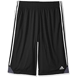 adidas Men's 3G Speed Big & Tall Shorts, Black/White, Large/Tall