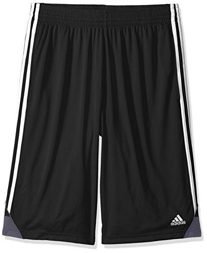 adidas Mens 3G Speed Big & Tall Shorts, Black/White, XX-Large/Tall