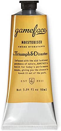 Triumph & Disaster Gameface Moisturizer Tube 3.04 fl oz – with Jojoba Extract Horopito Oil Vitamin E and Natural Antioxidants to Moisturize Invigorate and Rehydrate Dry Dull & Tired Skin
