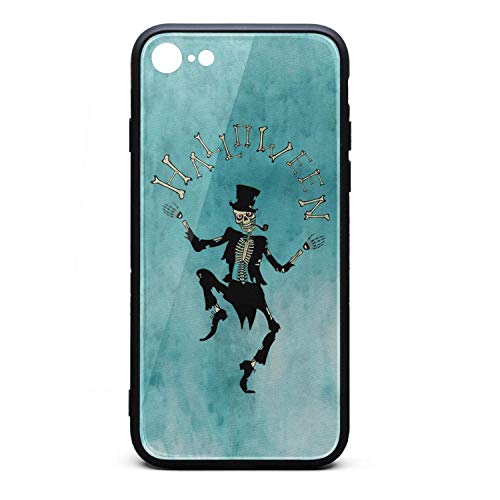 Halloween Skeleton Gentleman Phone Case for iPhone 6 Plus, iPhone 6S Plus, Slim Protection Art Line Design Cell Phone Protective Case -