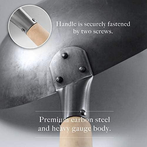 Amazon.com: Mammafong - Wok martillado a mano, de acero al ...