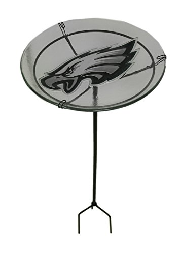 Team Sports America NFL Philadelphia Eagles Logo Garden Stake Bird Bath, Medium, Multicolored ()
