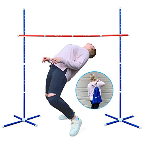 GIGGLE N GO Outdoor Limbo Game. Hilariously Fun Family Games for Kids and Adults - Start The Music, Bend The Back and See if You Can Clear The Limbo Stick. Great Party Games or Yard Games