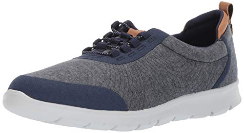 CLARKS Women's Step AllenaBay Sneaker Navy Heathered Fabric 100 M US