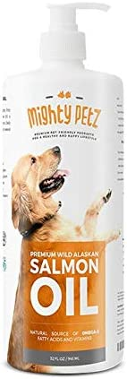 Salmon Fish Oil Omega 3 6 for Dogs Cats Anti Itch Skin Coat Allergy Support Hip Joint Arthritis. All Natural Wild Alaskan Liquid Pet Supplement EPA DHA. Heart Immune Health 32 oz