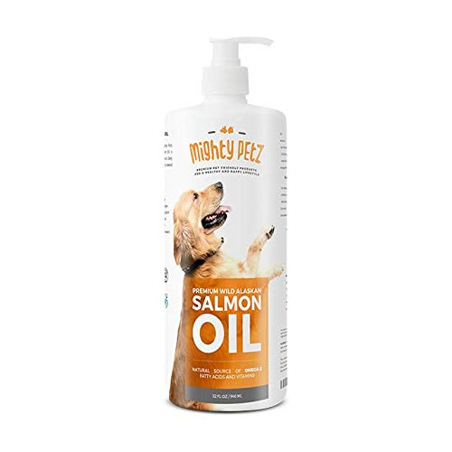 Salmon Fish Oil Omega 3 6 for Dogs & Cats - Anti Itch Skin & Coat + Allergy Support + Hip & Joint + Arthritis. All Natural Wild Alaskan Liquid Pet Supplement + EPA & DHA. Heart & Immune Health - 32 oz