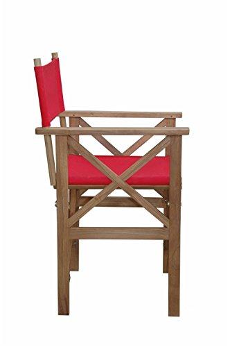 Anderson Teak Patio Lawn Garden Furniture Director Folding Armchair w/Canvas (Anderson Teak Garden Furniture)