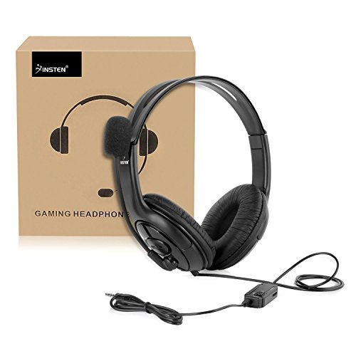 Insten Gaming Headset with Mic Compatible with Nintendo Switch/Lite  Fortnite in Game Play Chat, PS4 PC 3 5mm Universal, Over-Ear Headphones  Stereo