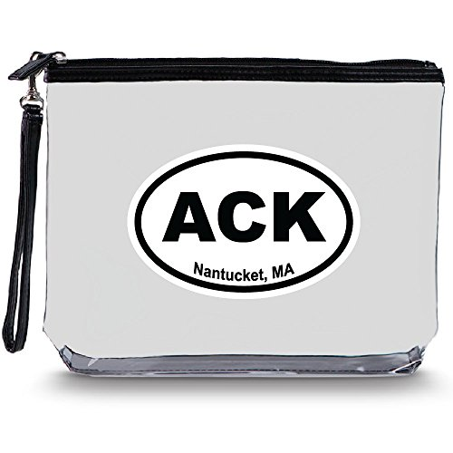 Squeeze Pod Clear Toiletry Bag with Hang Strap - Durable for Travel, Stands Up, Larger than Quart Size Bag - 10 Destinations Available - ACK Limited Edition
