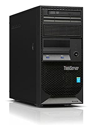 Newest Lenovo ThinkServer TS140 Flagship High Performance Tower Server Desktop | Intel Core i3-4150 | 3.50 GHz | 12GB RAM | DVD+/-RW | No Operating System | Black