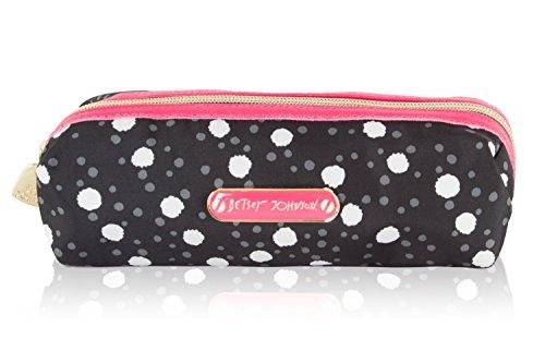 Betsey Johnson Pink Flower (Betsey Johnson Nylon Pencil Case - Spot)