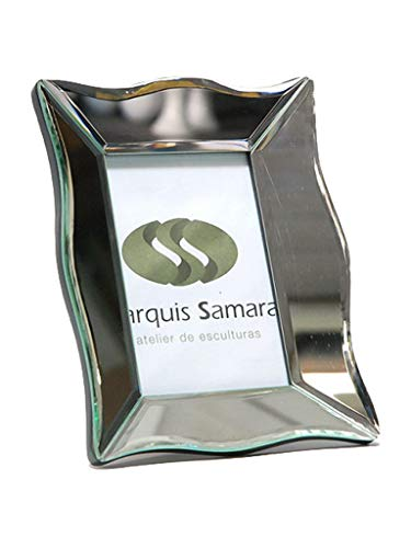 Porta Retrato Espelhado Decoração Sarquis Samara Prata