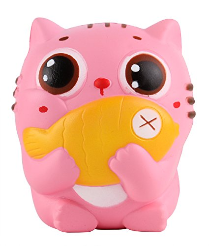 Cat Toy Fish Game : Anboor quot squishies cat kitten holding fish slow rising