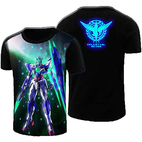 Gumstyle Mobile Suit Gundam Anime Luminous T Shirt Adult Cosplay Short Sleeve Tee 2-XXXL