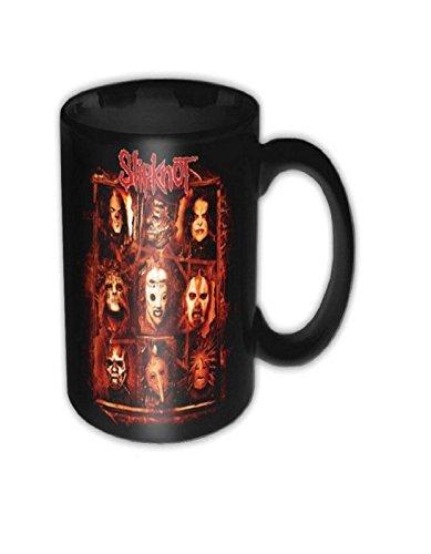 Slipknot Masks logo new Official black Boxed Mug]()